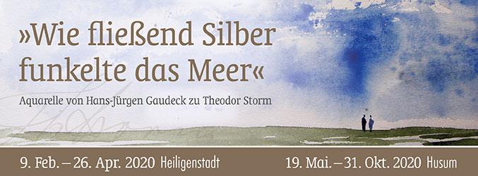 """""""Wie fließend Silber funkelte das Meer."""" Aquarelle zu Theodor Storm von Hans-Jürgen Gaudeck. Ein gesondertes Programm wird noch verschickt. Eintritt frei!"""